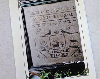 Simple Times Sampler by The Pinkeep...cross stitch pattern