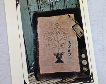 Faded Flowers Needle Book by The Pinkeep...cross stitch pattern