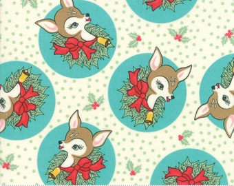 Deer Christmas Coolmint 31161 21 by Urban Chiks for Moda Fabrics