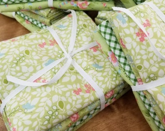 Pantry Pack:  Avocado Lime....4--1/2 yards of green prints by Brenda Riddle