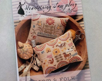 Farm & Folk Penny Cushions by Heartstring Samplery...cross stitch pattern
