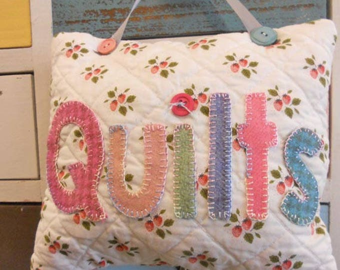 Quilts pillow kit...designed by Mickey Zimmer