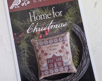 Home for Christmas by Plum Street Samplers...cross stitch pattern, Christmas cross stitch, winter cross stitch