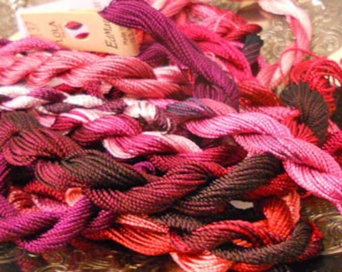 Raspberry Thread Pack of 10 skeins of Edmar Thread.