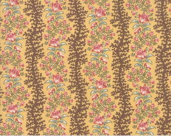 Sarah's Story 1830-1850, Butter 31592 14 fabric designed by Betsy Chutchian for Moda Fabrics