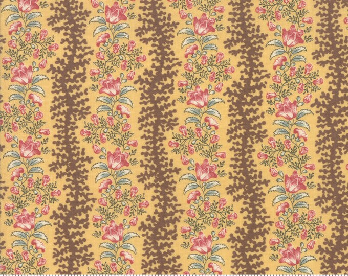 Sarah's Story 1830-1850, Butter 31592 14 fabric designed by Betsy Chutchian for Moda Fabrics