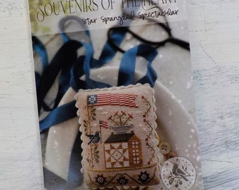Star Spangled Spectacular, a Souvenirs of the Heart, by Brenda Gervais of With Thy Needle & Thread...cross-stitch design, Americana