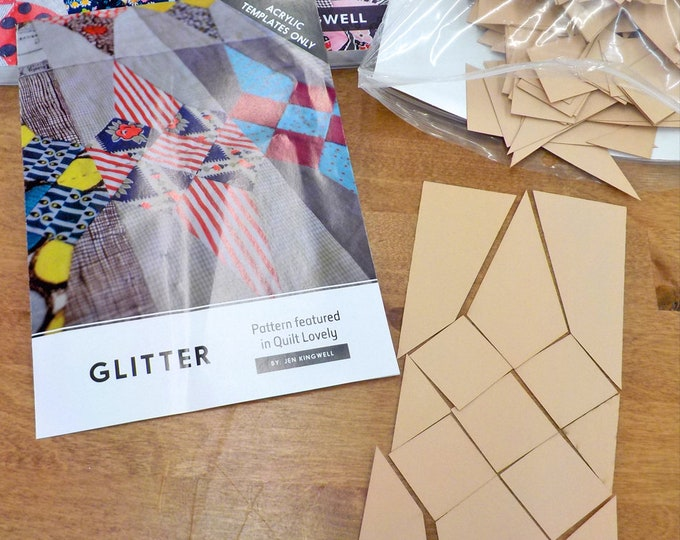 Glitter...Quilt Lovely book, acrylic templates, and paper pieces