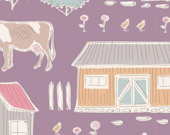 Tiny Farm Tiny Farm Mauve TIL110022-V11...a Tilda Collection designed by Tone Finnanger