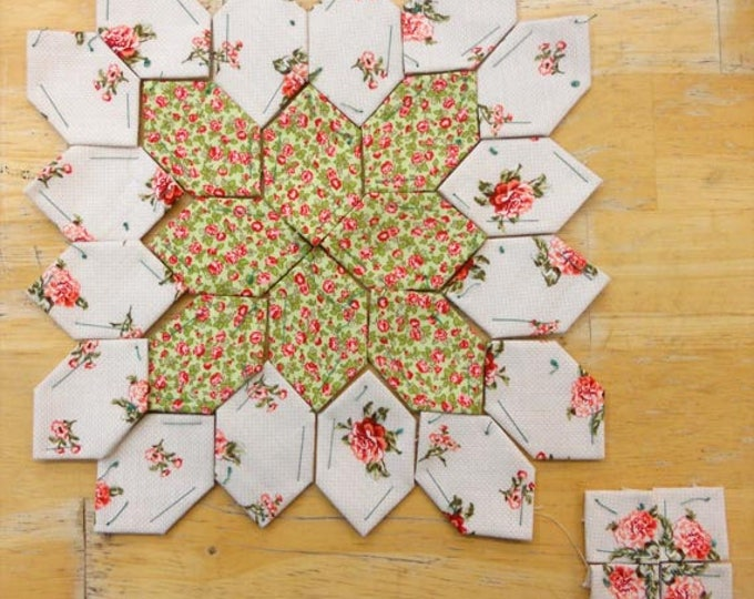 Lucy Boston Patchwork of the Crosses summer cottage block kit #3