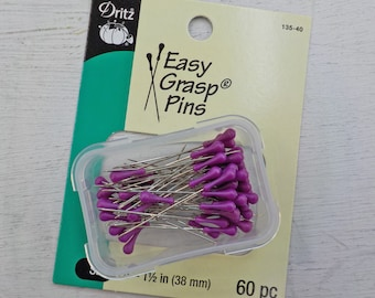 Dritz Easy Grasp Pins...60 pins, size 24--1 1/2 inch