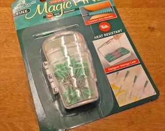 Magic Pins, Taylor Seville Originals...patchwork pins, fine, .5mm x 36mm, 50 pins, comfort grip, heat resistant, designer storage case