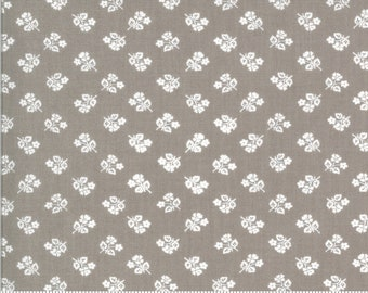 Sophie Small Floral Cobblestone 18712 14 by Brenda Riddle for Moda Fabrics