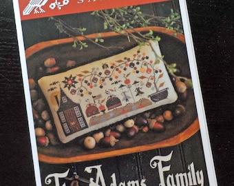 The Adams Family by Plum Street Samplers...cross stitch pattern, Halloween cross stitch, autumn cross stitch