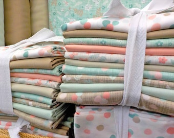 Wonder and Bella half yard bundle...featuring 10---half yards...designed by Katie and Birdie Paper Co for Moda Fabrics