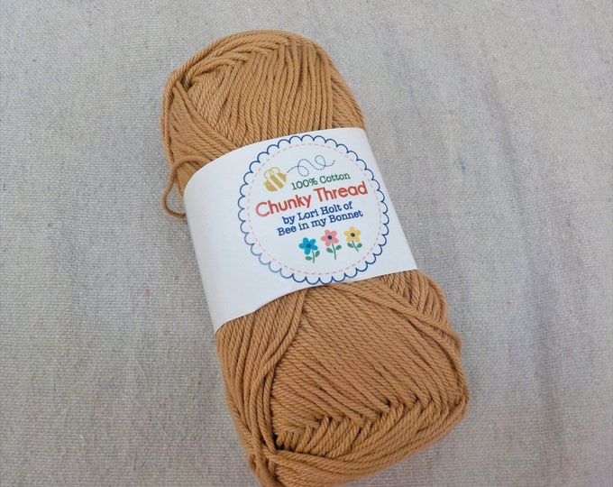 Chunky Thread by Lori Holt of Bee in my Bonnet...nutmeg, 50 grams, 140 yards, 128 meters