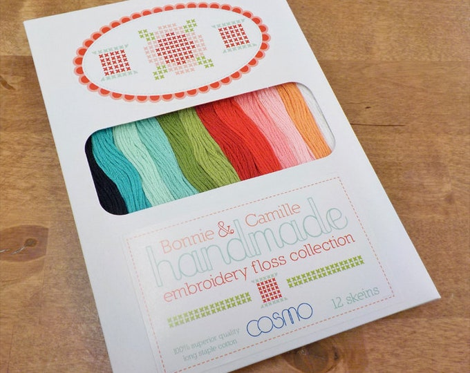 Handmade by Bonnie and Camille...embroidery floss designer pack, 12 skeins, Cosmo threads, Lecien