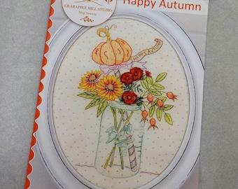 Happy Autumn pattern by Meg Hawkey of Crabapple Hill Studio
