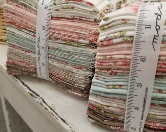 Last one! Rue 1800 fat 8th bundle by 3 Sisters for Moda Fabrics...factory cut bundle, fat 8th bundle, 40 fat 8th
