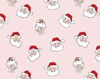 Santa Claus Lane Main Pink C9610-PINK designed by Polka Dot Chair for Riley Blake Designs