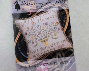 All the Pretty Flowers by Heartstring Samplery...cross stitch pattern