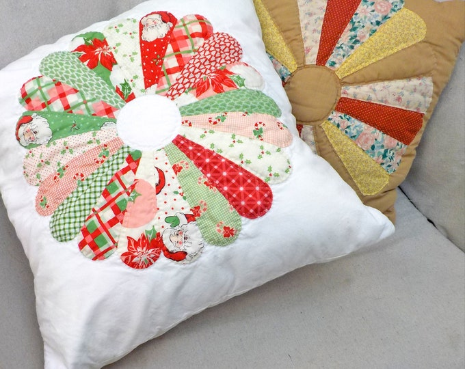 Grandma's Dresden pillow...kit complete, pattern, fabrics, acrylic template, and paper pieces