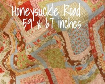 PDF Honeysuckle Road pattern designed by Mickey Zimmer for Sweetwater Cotton Shoppe