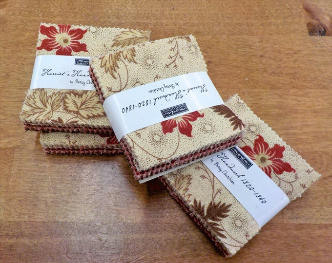 Harriet's Handwork 1820-1840 mini charm pack by Betsy Chutchian for Moda Fabrics