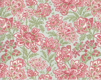 Rue 1800 44222-13 Robin's Egg floral by 3 Sisters for Moda Fabrics