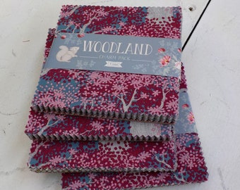 Woodland charm pack...40--5 inch squares...a Tilda Collection designed by Tone Finnanger