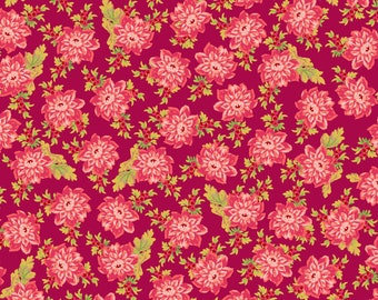 Sweet Beginning red small floral MAS10012-R2 by Jera Brandvig of Quilting in the Rain for Maywood Studios