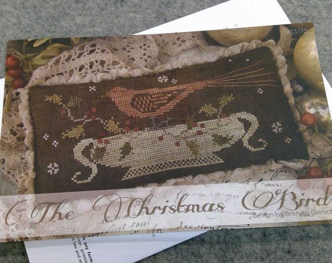 The Christmas Bird by Brenda Gervais of With Thy Needle & Thread...cross-stitch design