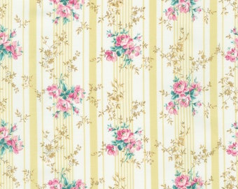 Vintage Ruru Marie Floral QGRU238016A by Quilt Gate for Robert Kaufman