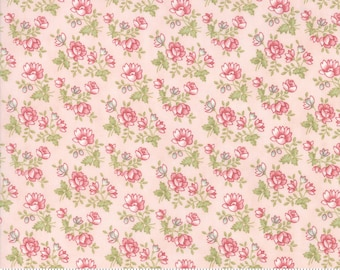 Rue 1800 44225-12 Rose floral by 3 Sisters for Moda Fabrics