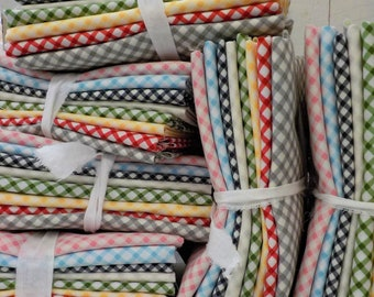 Gingham Summer...designed by Brenda Riddle...8 gingham fat quarters
