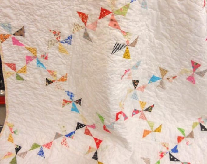 Confetti Quilt kit...using mini charm mix...pattern designed by Mickey Zimmer