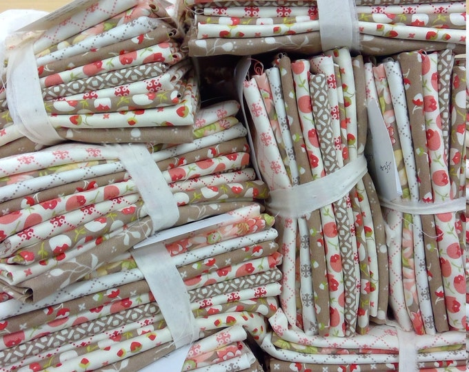 Pebble & Ivory...exclusive bundle of 10 fat quarters of Scarlet and Sage prints designed by Fig Tree Quilts