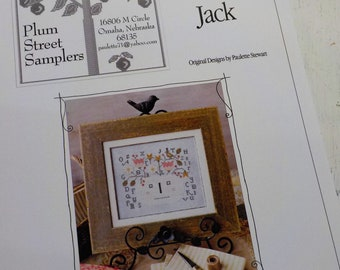 Spring Jack by Plum Street Samplers...cross stitch pattern, Halloween cross stitch, autumn cross stitch