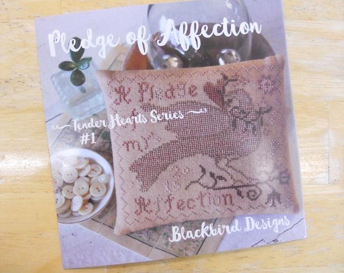 Pledge of Affection, Tender Hearts Series #1, by Blackbird Designs...cross-stitch design