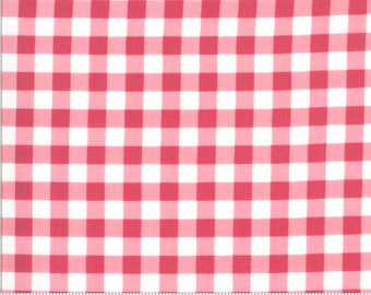 Sophie Gingham Rosey 18714 14 by Brenda Riddle for Moda Fabrics