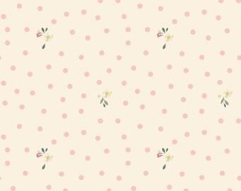 Rose & Violet's Garden Dots Cream C10415 designed by Miss Rose Sister Violet for Riley Blake Designs