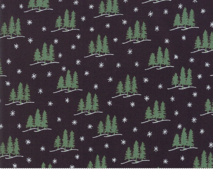 Holiday Lodge Charcoal 19895 12 designed by Deb Strain for Moda Fabrics