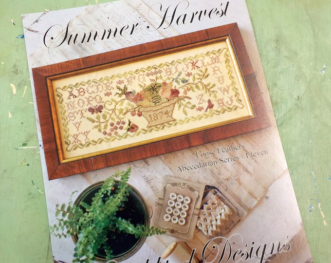 Summer Harvest, Abecedarian series pattern 11 by Blackbird Designs...cross-stitch design