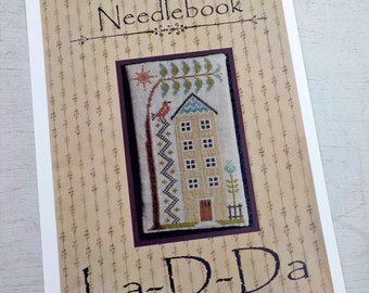 Tall House Needlebook by La-D-Da...cross stitch pattern