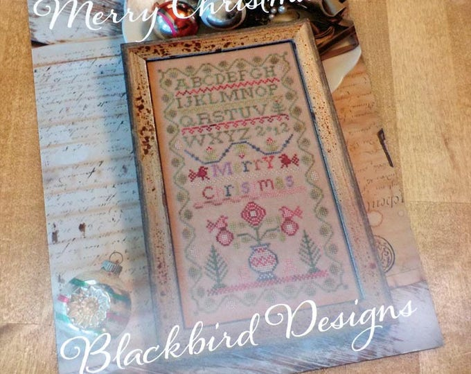 Merry Christmas by Blackbird Designs...cross-stitch design
