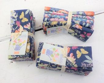 Gardenlife Blue fat quarter bundle...a Tilda Collection designed by Tone Finnanger, 5 fat quarters Tilda blue