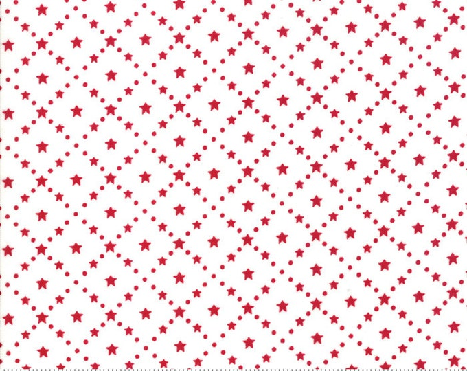 Merry Merry Snow Days Snow Red 2947 16 designed by Bunny Hill Designs for Moda Fabrics