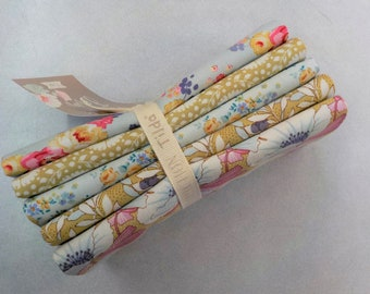 Maple Farm dijon and teal fat quarter bundle...a Tilda Collection designed by Tone Finnanger...5 fat quarters