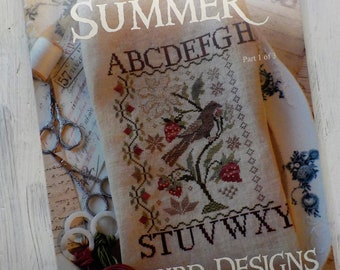 Loose Feathers Summer Part 1 of 3 by Blackbird Designs...cross-stitch design