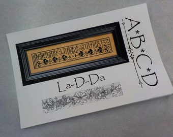 A B C D by La-D-Da...cross stitch pattern